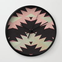 navajo Wall Clocks featuring navajo triangles by spinL