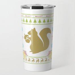 Pet Squirrel Christmas Ugly Sweater Design Shirt Travel Mug