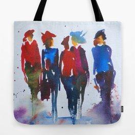 """Catwalk"" Original Painting by Doreen Koch Allen Tote Bag"