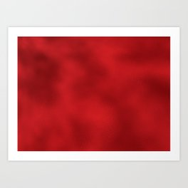 Bold Red Foil Rippled Texture, Holiday - Christmas Art Print