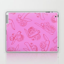 Peonies and Switchblades Laptop & iPad Skin