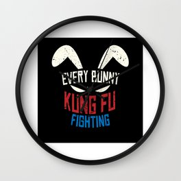 Every Bunny Was Kung Fu Fighting Bunny Wall Clock