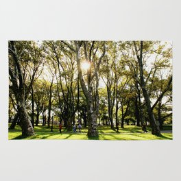 Fall at Kissena Park, New York City, NYC Nature  Rug