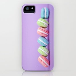Row of Macaron Cookies iPhone Case