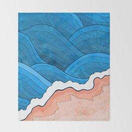 Seaside Beach Throw Blanket
