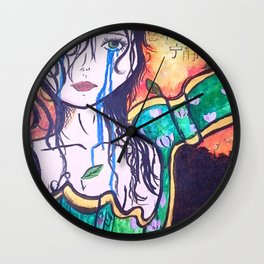 Wrapped in sunset Wall Clock
