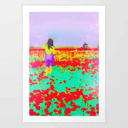 ..Tell Me A Story With Flowers.. Art Print