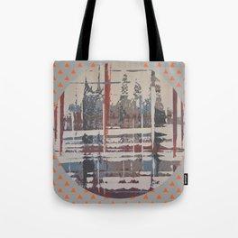 Waterlogged - orange triangle Tote Bag