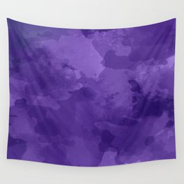 amethyst watercolor abstract Wall Tapestry