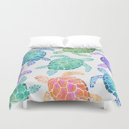 Sea Turtle - Colour Duvet Cover