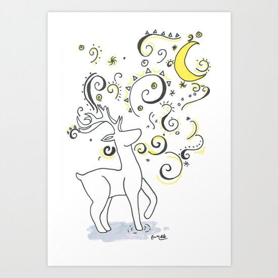 Deer Design Art Print