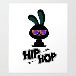 Easter Bunny Hop hobbling fun gift Art Print