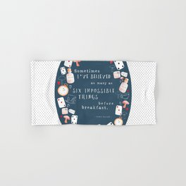 Alice in Wonderland - Six Impossible Things Hand & Bath Towel