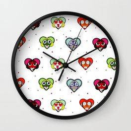 Space Froggos Love You! Wall Clock