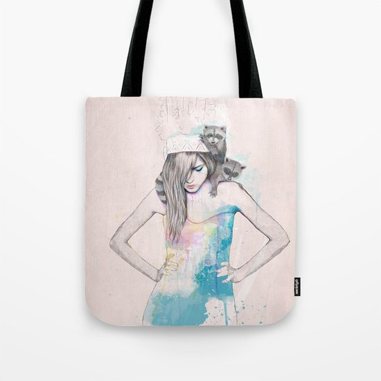 Raccoon Love Tote Bag