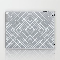 Map Outline 45 Grey Repeat Laptop & iPad Skin