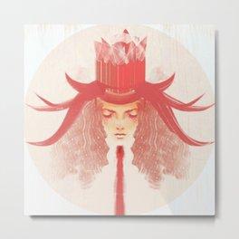 Crown Ruby Metal Print