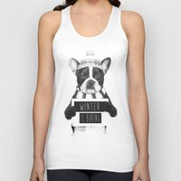snowboarding Tank Tops featuring Winter is boring by Balazs Solti