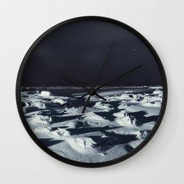 Encased in Winter Wall Clock