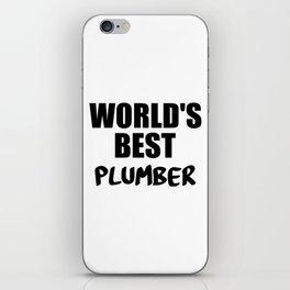 worlds best pumber iPhone Skin