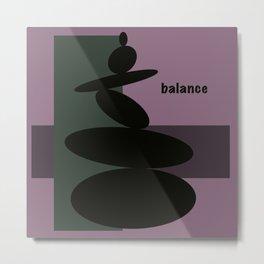 Balance - Rock Art  Metal Print