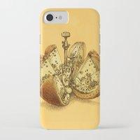 clockwork iPhone & iPod Cases featuring Steampunk Orange by Eric Fan