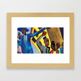 African American Masterpiece 'I am a man' by Jacob Lawrence Framed Art Print
