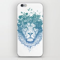 Floral lion iPhone Skin