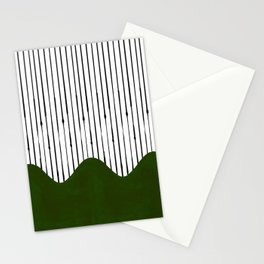 lines and wave (green) Stationery Cards