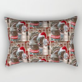 Santa Horse 6 - Retro Rectangular Pillow