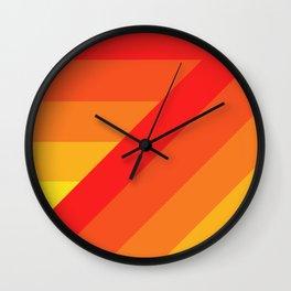 Turning Corners - Orange Yellow Hues Wall Clock