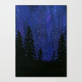 Twinkle, Twinkle, Stars Night Sky Painting Canvas Print
