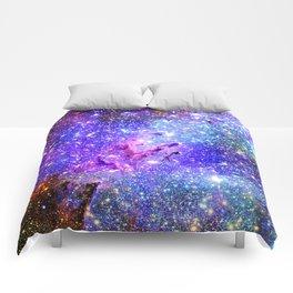 Galaxy Nebula Eagle Nebula Bright & Colorful Comforters