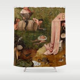 "Hieronymus Bosch ""Allegory of Gluttony"" Shower Curtain"