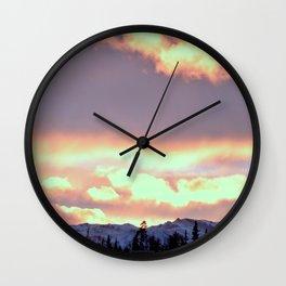 Chugach Mts Serenity Sunrise - III Wall Clock