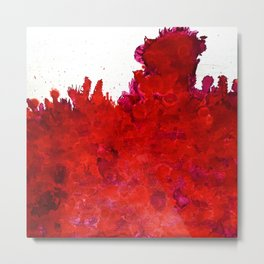 Shining Storm of Red Metal Print