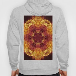 Magical glowing fractal mandala Hoody