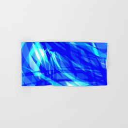 Vector glowing water background made of blue sea lines. Hand & Bath Towel