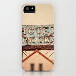 Hotel Mark Twain, Hollywood iPhone Case
