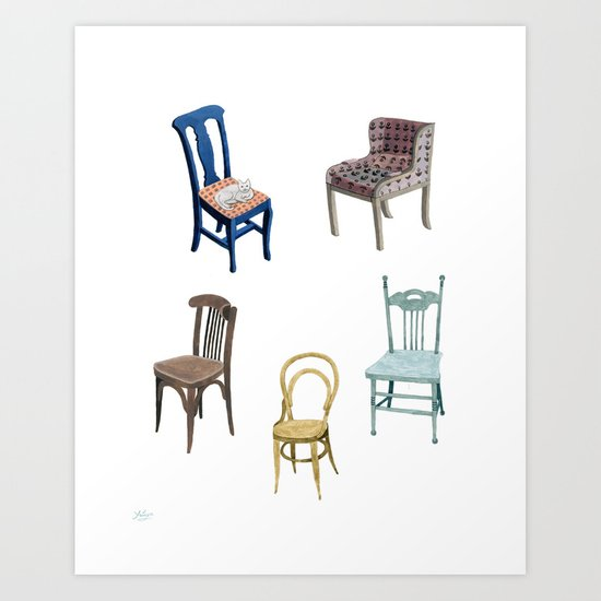 Chairs number 2 Art Print