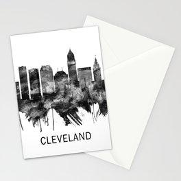 Cleveland Ohio Skyline BW Stationery Cards
