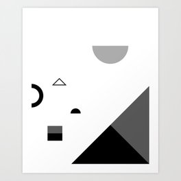 Fête No. 2 Geometric Monochrome Art Print