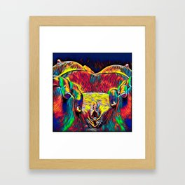 881-HW Abstract Pop Color Erotica Explicit Psychedelic Yoni Pearl in Pussy Framed Art Print