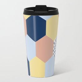 Cotton Candy Hexies Travel Mug
