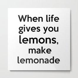 Lemonade lettering Metal Print