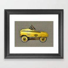 Yellow Taxi Pedal Car Framed Art Print