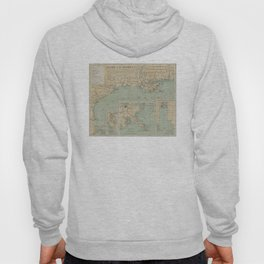 Vintage US Gulf of Mexico Lighthouse Map (1898) Hoody