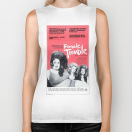Vintage Female Trouble Movie Poster Biker Tank