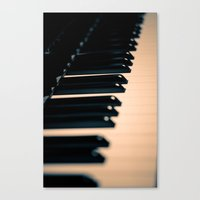 piano Canvas Prints featuring piano by noirblanc777