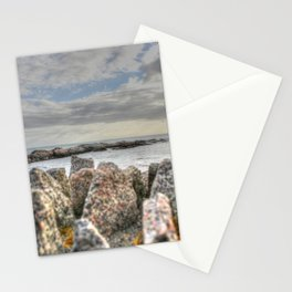 Sunset at shore Stationery Cards
